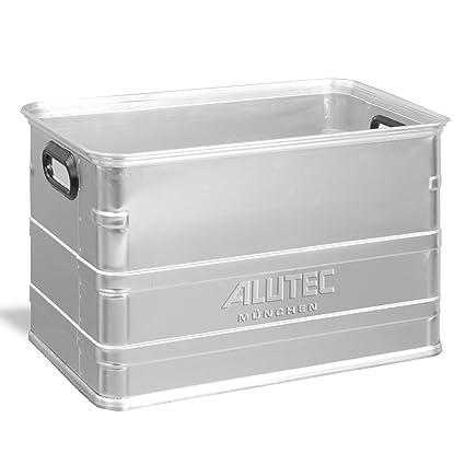 Alutec - Cajas de aluminio de aluminio 80l cajas apilables u perrera alimentos seguros