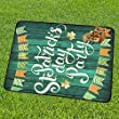 Happy More Custom Happy St. Patrick Day Party Portable & Foldable Mat 60x78 inch