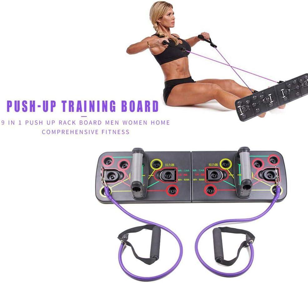 Deyan Push Up Rack Board Faltbares Bodybuilding-Rack Train Gym Fitness System Workout-/Übungsst/änder f/ür Gym Home Training Exercise