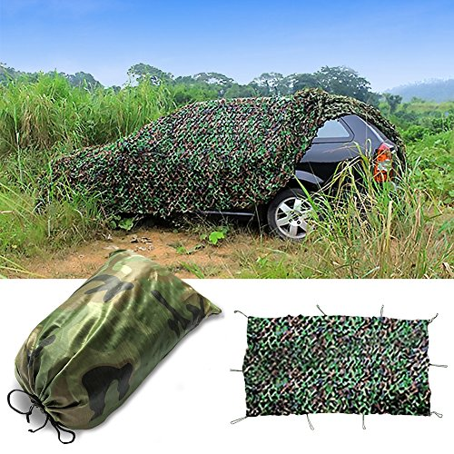 Didaoffle Woodland Camouflage Netting - Camo Net For Hunting Camping Shooting Military Themed Party Decoration - Various Camouflage Blinds Great For Sunshade(6.5ftx10ft)
