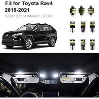 10pcs RAV4 Interior LED Lights Kit Super Bright LED Map Dome Light Bulbs for 2016-2020 Toyota RAV4 all models