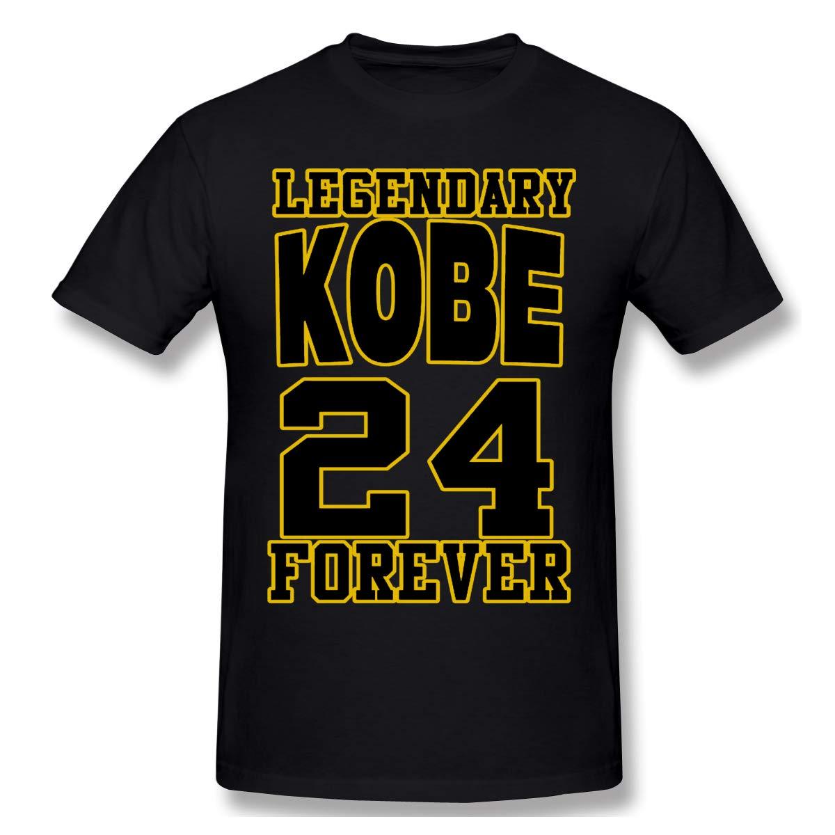 Obe B Ryant Black Mam Ba Forever S, Short Sleeve Black Purple Printed Shirts