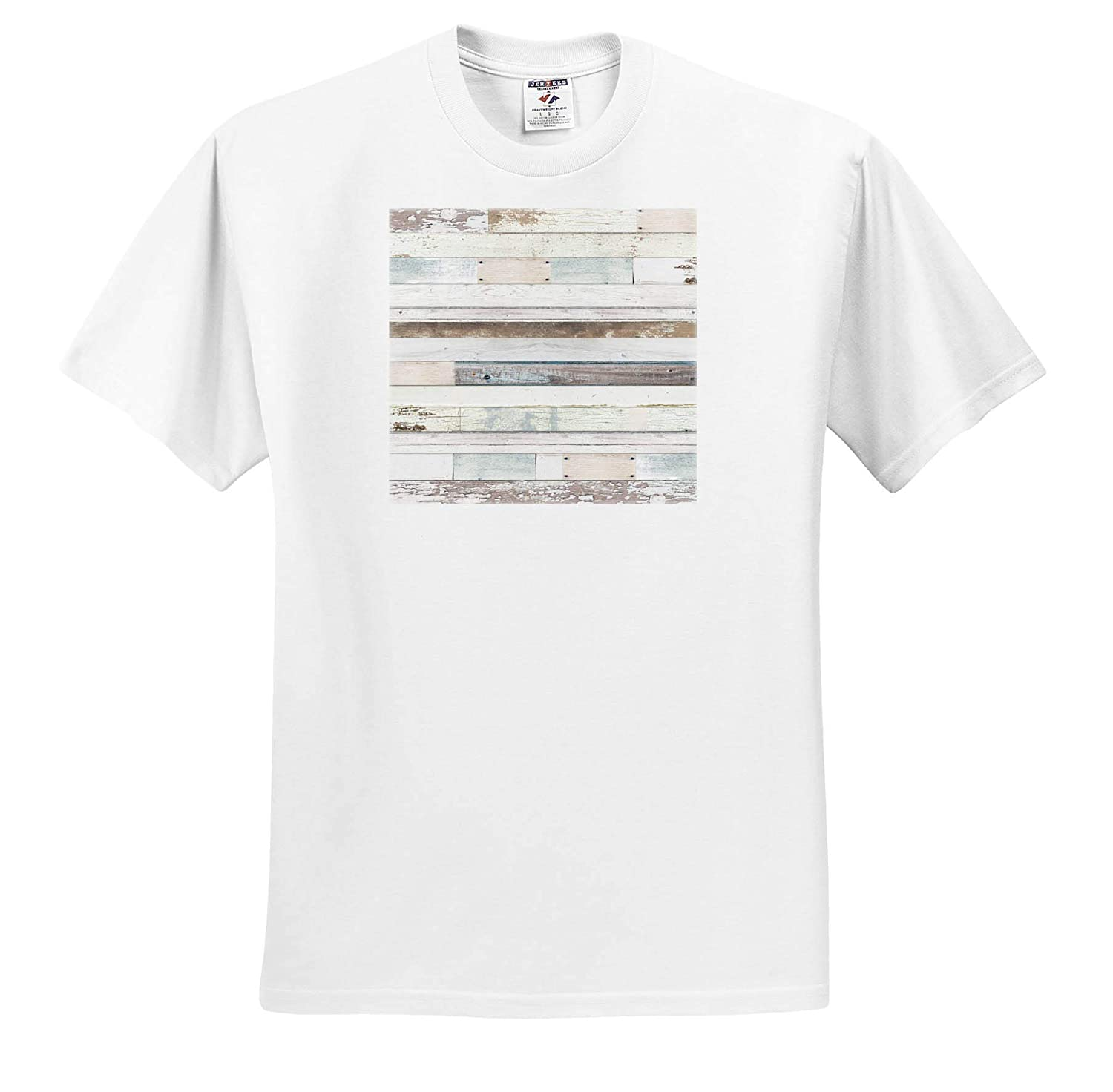 White Textures and Brown Image of Distressed Wood ts/_309784 Adult T-Shirt XL 3dRose Anne Marie Baugh Light Blue