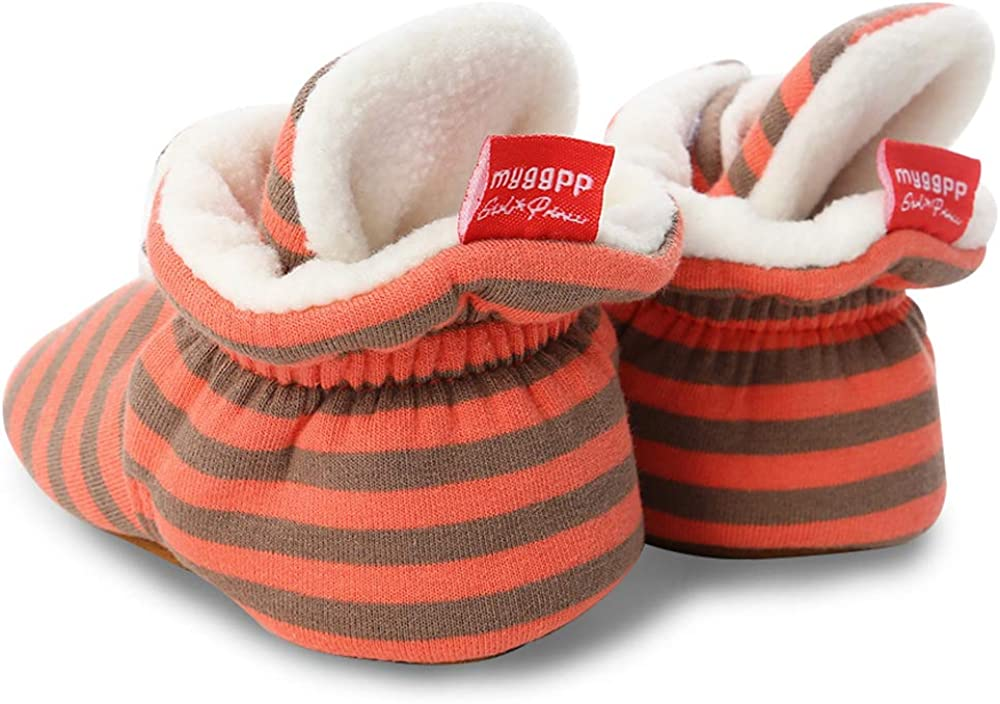 0-18 Months Baby Boys Girls Fleece Booties Infant Socks Newborn Soft Sole Winter Warm Stay On Slippers Non-Skid Cozy Crib Shoes