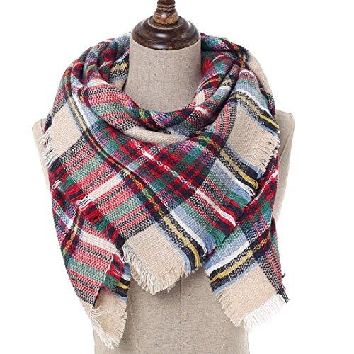 Kids Blanket Squre Scarf Wrap Shawl- Girls And Boys Stylish Grid Warm Wrap Shawl