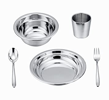LIANYU 5-Piece Toddler Kids Dinnerware Set Stainless Steel Childrens Dinnerware Include Plate/  sc 1 st  Amazon.com & LIANYU 5-Piece Toddler Kids Dinnerware Set Stainless Steel Childrens Dinnerware Include Plate/Bowl /...