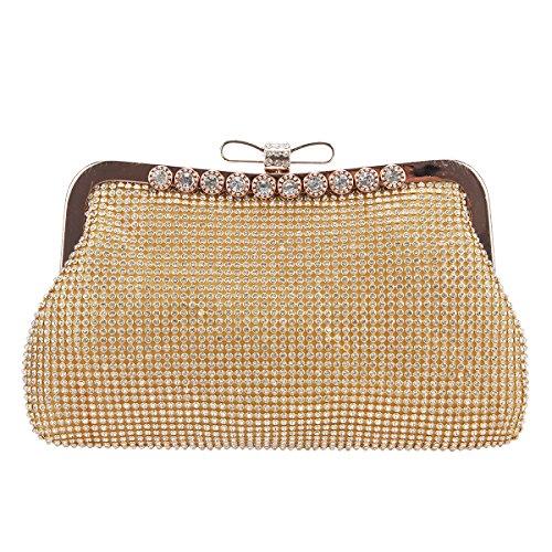 Fawziya Clutch Bow Evening Bag Soft Rhinestone Clutches For (Bow Clutch)