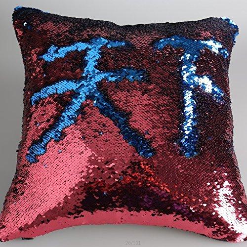 Sirenita almohada color granate y Azul con cojín de diseños ...