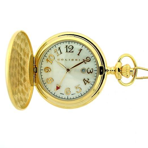 bbd2ab3a7620 Colibri reloj de bolsillo con tono de oro madre de Pearl 586003  Amazon.es   Relojes