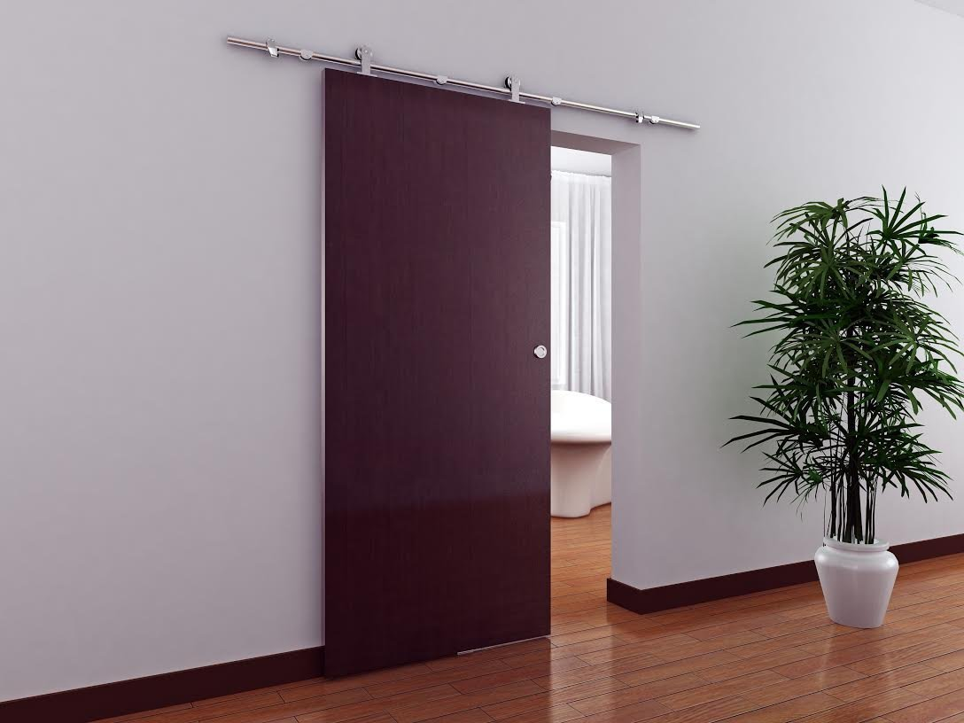 Amazon.com: TMS WoodenSlidingDoor-Hardware Modern Interior Sliding ...