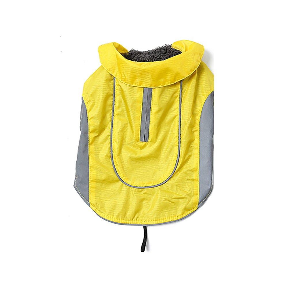 Yellow XXXL Yellow XXXL Waterproof Dog Coat Pet Winter Jacket Vest Big Dog Waterproof Warm Pet Clothing,Yellow-XXXL