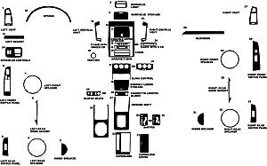 Rvinyl Rdash Dash Kit Decal Trim for Nissan Altima 2005-2006 - Wood Grain (Burlwood Dark)