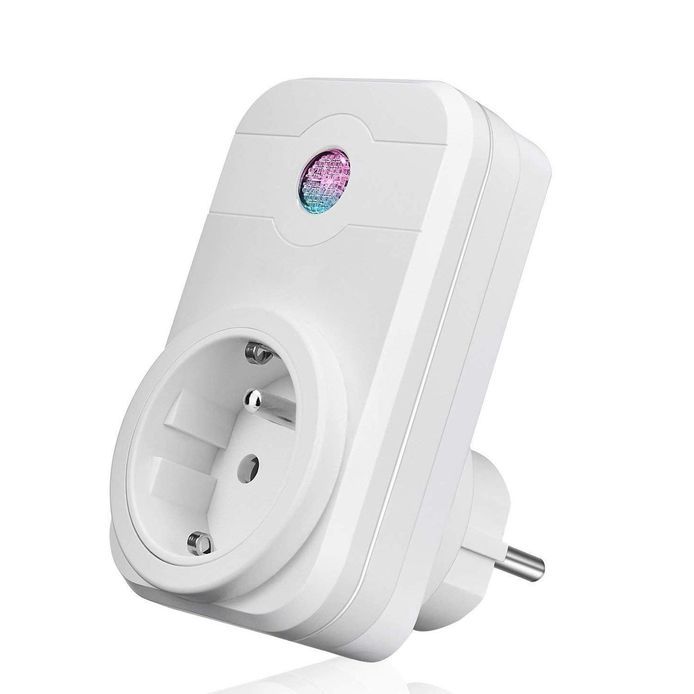 Prise intelligente, Smart Prise connecté e Wifi compatible avec Google Home  Alexa aucune hub requis prises té lé commandé es prise de courant mise en veille programmation LOT DE 1 ANOOPSYCHE SWA1
