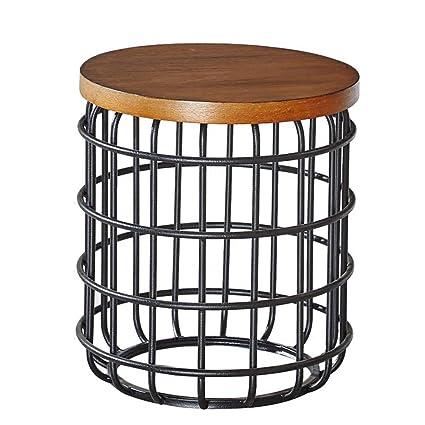 Wrought Iron Round Table.Amazon Com Xiaoyan End Table Side Table Nordic Vintage Wrought Iron