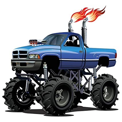 Beau Azutura Blue Monster Truck Wall Sticker Cool Vehicle Wall Decal Boys Bedroom  Home Decor Available In