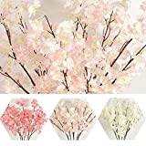 AMAZZANG-Silk Wedding Decor Fake Flower Artificial Bouquet Home Floral Garden Party Decor (CHAMPAGNE PINK)