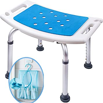 medokare shower stool with padded seat shower seats for seniors with tote bag shower