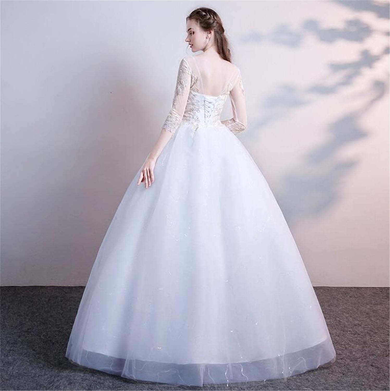 Amazon Drohe Q New Wedding Dress One Shoulder Winter Bride
