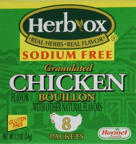 Herb Stock Cubes (Herb-Ox Bouillon Chicken Instant Broth and Seasoning, 1.2 oz, 8 Packets (Pack of 2))