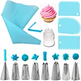 ANSOPO 14 Piezas kits de Boquillas para Manga Pastelera,para Decoración de Pasteles (azul)