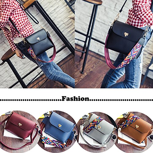 Colorful Women Off Bag Purse Bag white Crossbody Strap For Leather PU Donalworld wvYqOO0
