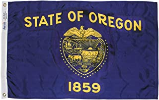 product image for Annin Flagmakers Model 144460 Oregon State Flag 3x5 ft. Nylon SolarGuard Nyl-Glo 100% Made in USA to Official State Design Specifications.