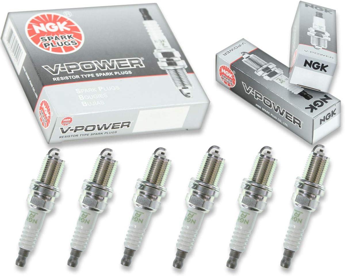 6-NGK Iridium IX Spark Plugs /& NGK Ignition Wire Set for Toyota V6 3.4
