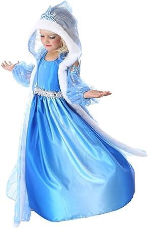 MissFox Disfraces De Niña Disfraz De Elsa Frozen: Amazon.es ...