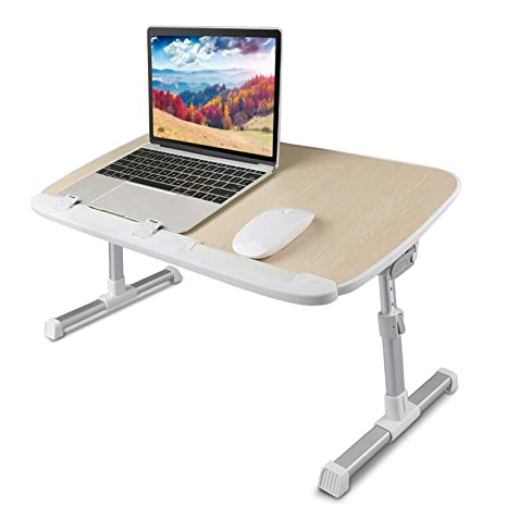 Amazoncom Laptop Bed Tray Table Adjustable Laptop Bed Stand