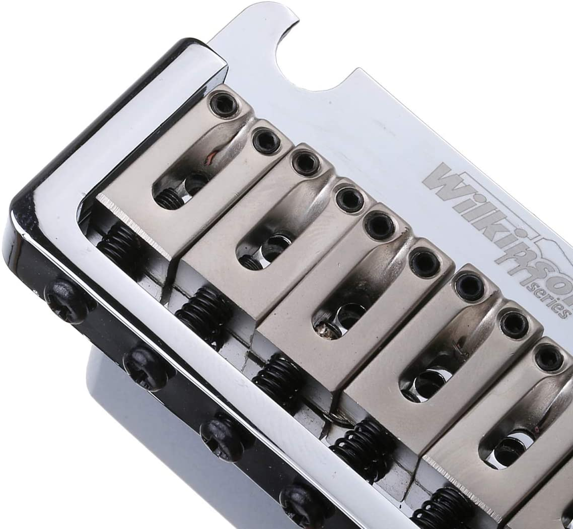 2-1//16 inch Full Block ST Guitar Tremolo Bridge Pop-In Arm 2-Point for American Standard or Professional Fender Strat Wilkinson 52.5mm Chrome