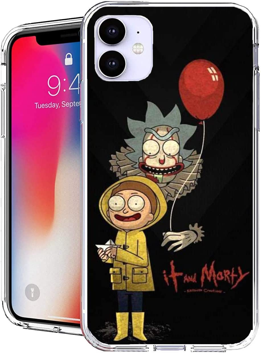 Pure Clear Case Transparent Soft TPU Protective Cover Compatible with iPhone 11 (6.1) Rick Artwork His Grandson
