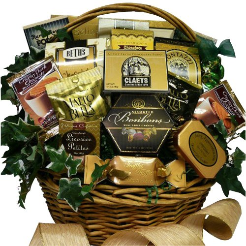 Sweet Sensations Cookie, Candy and Treats Gift Basket LARGE (Chocolate Option) (Christmas Gift Basket Idea)