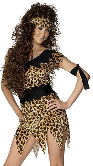 Amazon.com  Womens Cave Girl Fancy Dress Costume Outfit Leopard ... dfeeb592d