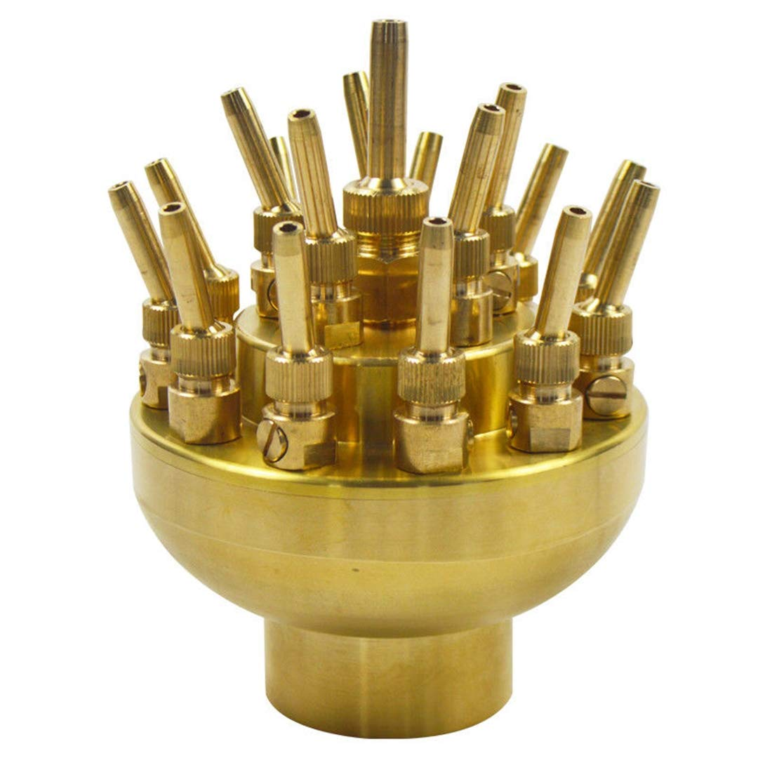 ees.3 Layers 17 Sprinklers Adjustable Water Fountain Nozzle Brass Quality 2'' DN50