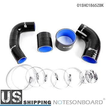 Manguera de silicona Intercooler Turbo para Subaru Impreza GC8 EJ20 STI MK3 4 97 - 98 BK: Amazon.es: Coche y moto