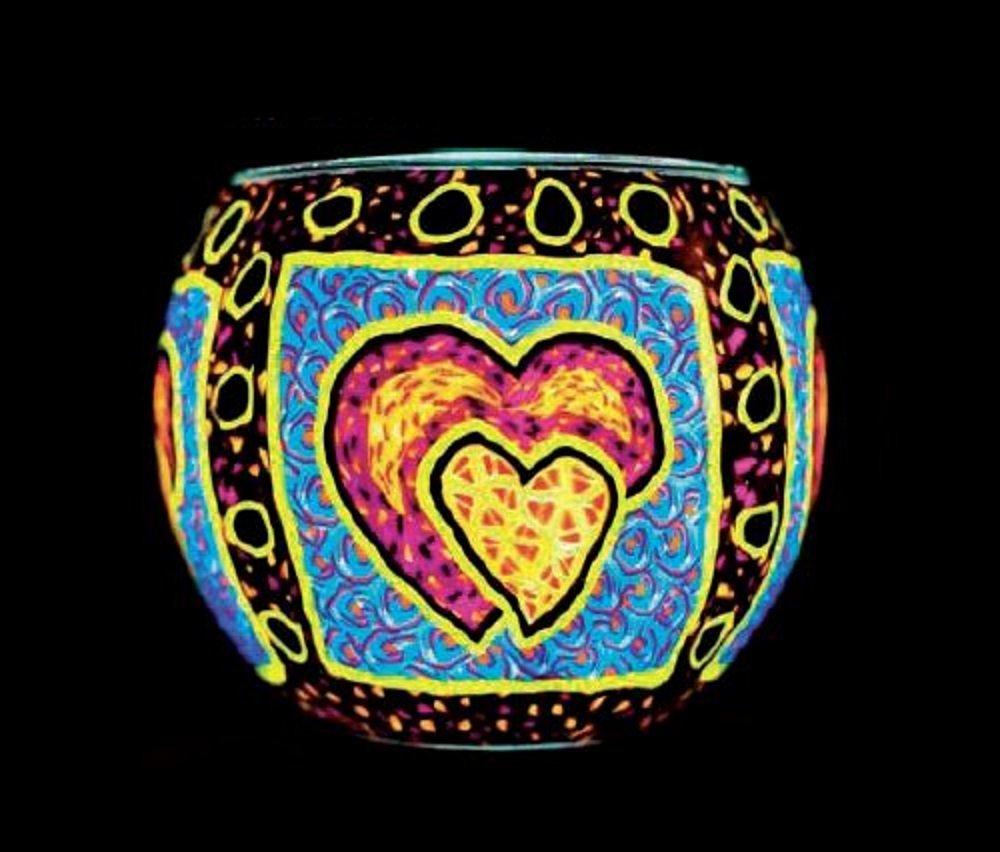 Benaya Purple Heart Tealight Holder Benaya Art Ceramics