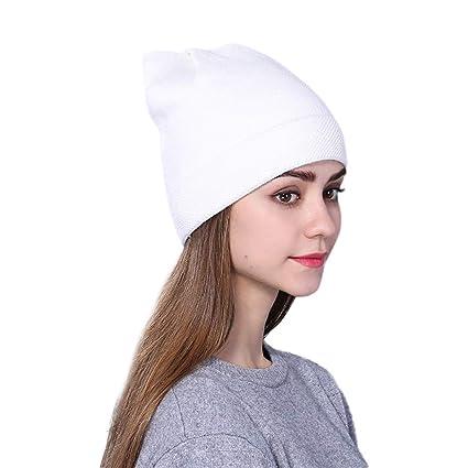 bff87697b0e9d Amazon.com   Rumas Winter Cap for Women - Warm Wool Knit Hats ...
