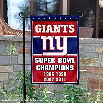5ea37c2f WinCraft New York Giants 4 Time Super Bowl Champions Double Sided Garden  Flag