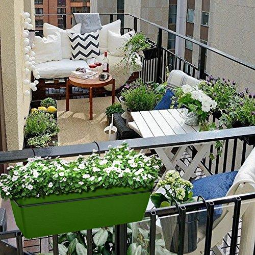 Adjustable Window Box Deck Rail Kit: Railing Planter 22 Inches, Deck Rail Balcony Mount Flower