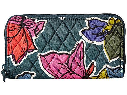 Vera Bradley Women's RFID Georgia Wallet Falling Flowers One -