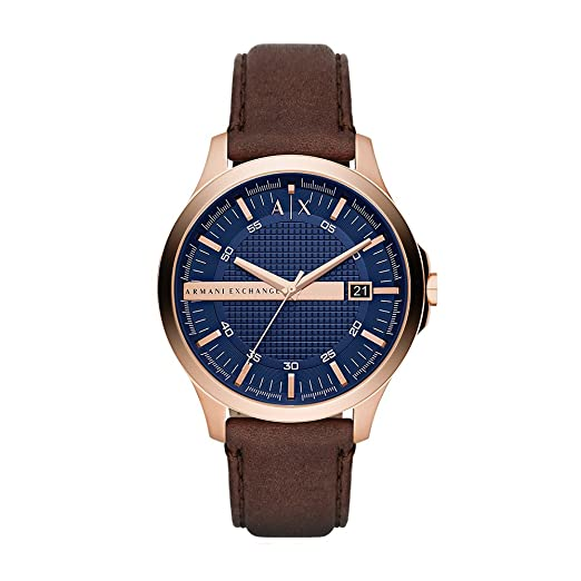 a5639a3db7be Image Unavailable. Image not available for. Colour: Armani Exchange Hampton  Analog Blue Dial Men's Watch ...