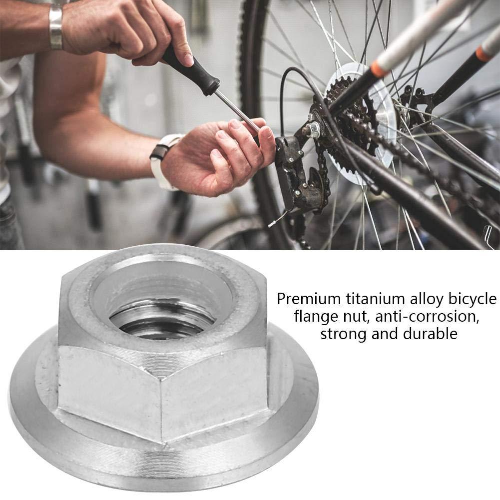 M5X0.8 Zouminy 1 st/ück Titanlegierung Flansch Kontermutter f/ür Fahrrad Motorrad