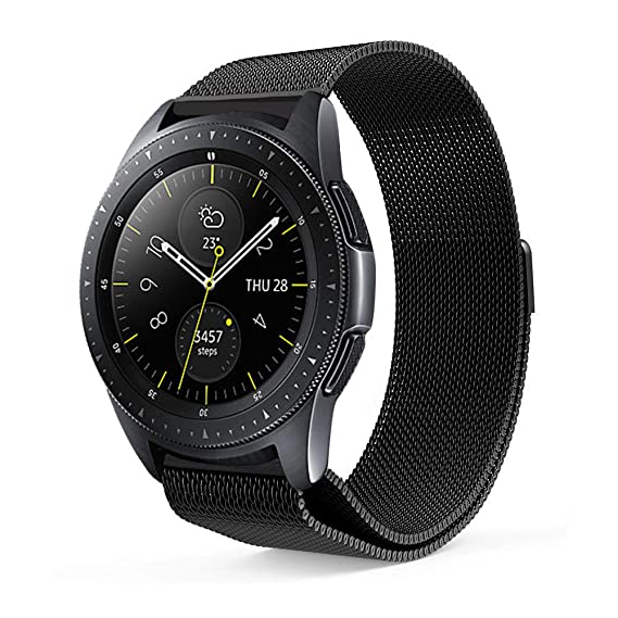 18ccae412 Aimtel Compatible Samsung Galaxy Watch (42mm) Bands,20mm Milanese Loop  Strap Replacement Band