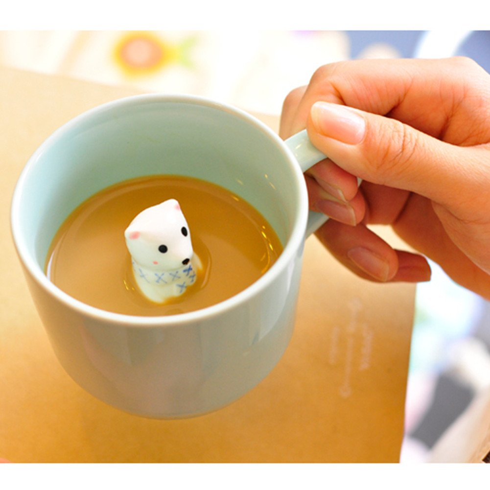 ZaH 300ml 3D Animal Cup Morning Mug, White Rabbit by ZaH (Image #4)