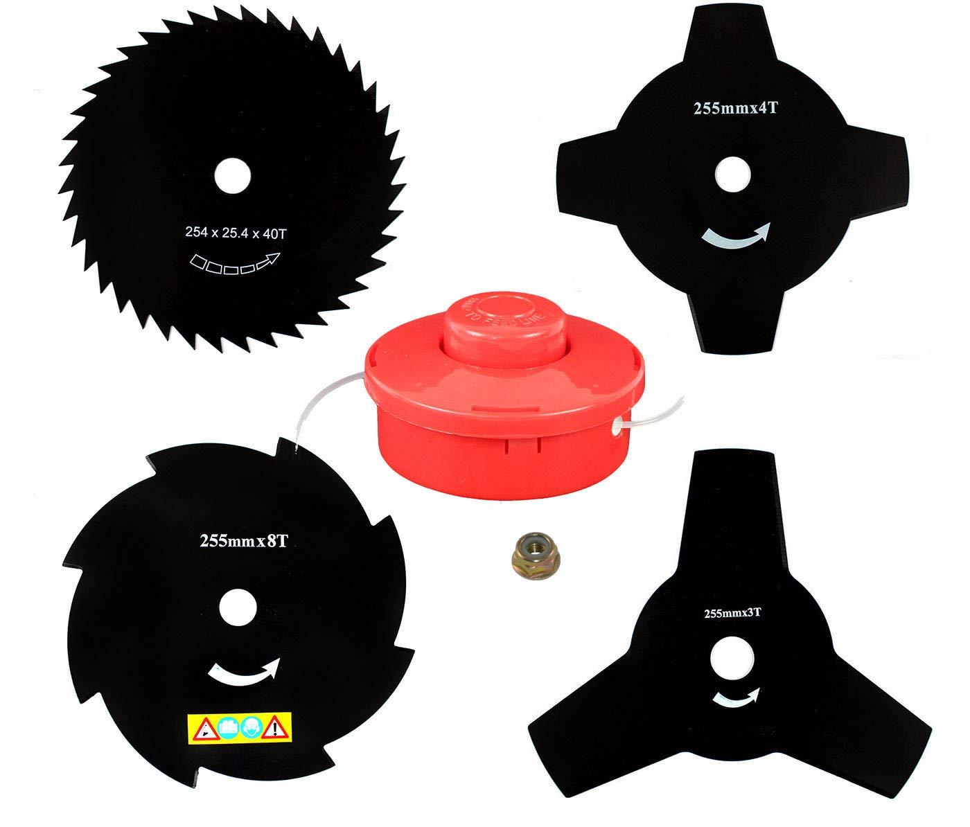 4 x sharfes Cuchillo & Bobina de hilo para compatible con: Fuxtec ...