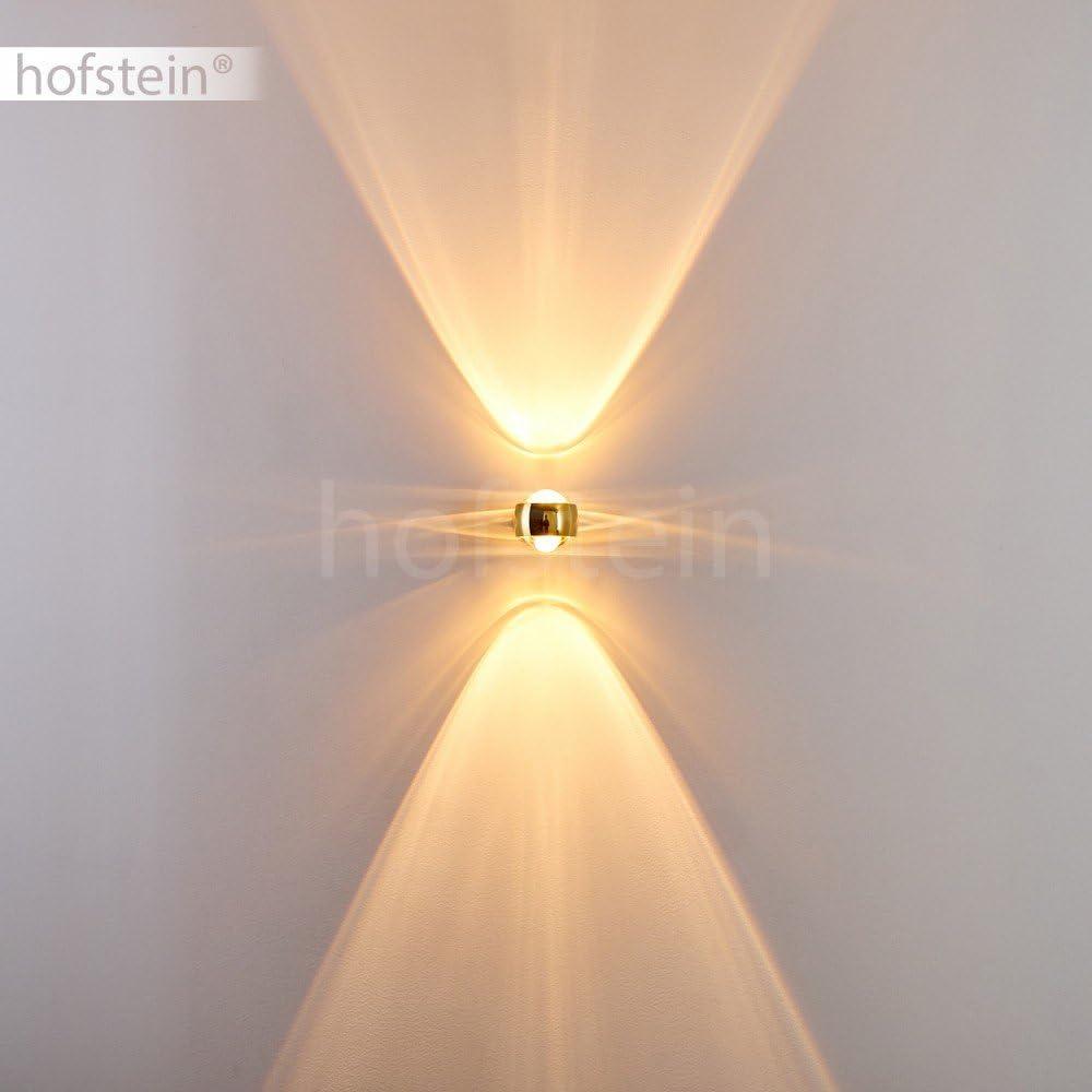 Aplique con efectos de luz Sapri met/álico y lentes de vidrio cuadrado de color dorado