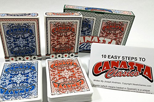 Canasta Clásico Playing Card Double Deck Set-Deluxe ()