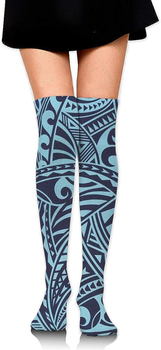 Game Life High Socks Polynesian Tattoo Tapa In Blue Sport Socks Crew Socks