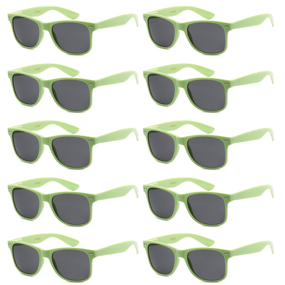 fd94dbd4a1 WHOLESALE UNISEX 80 S RETRO STYLE BULK LOT PROMOTIONAL SUNGLASSES - 10 PACK  product image