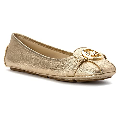 Michael Kors Ladies Pale Gold Moccasin Yellow Size  5  Amazon.co.uk  Shoes    Bags b3a5c423f30